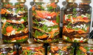 Баклажаны с чесноком на зиму: 10 лучших рецептов приготовления консервации