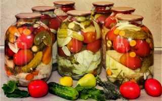 Закатка ассорти – огурцы, помидоры и кабачки: пошаговый рецепт приготовления на зиму